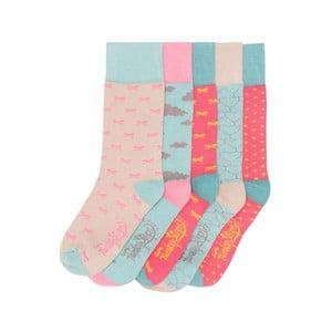 Sada 5 párů barevných ponožek Funky Steps Pastels, vel. 35-39