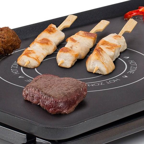Černý elektrický stolní gril Princess Chef Hot-Zone, příkon 2500W