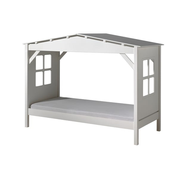 Biela detská posteľ Vipack Pino Cabin, 90×200 cm