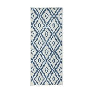 Modro-bílý oboustranný koberec Bougari Rio, 80x150 cm