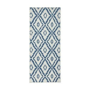 Covor reversibil Bougari Rio, 80 x 150 cm, albastru - alb