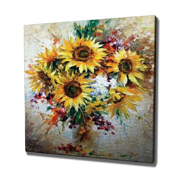 Sunflowers vászon fali kép, 45 x 45 cm