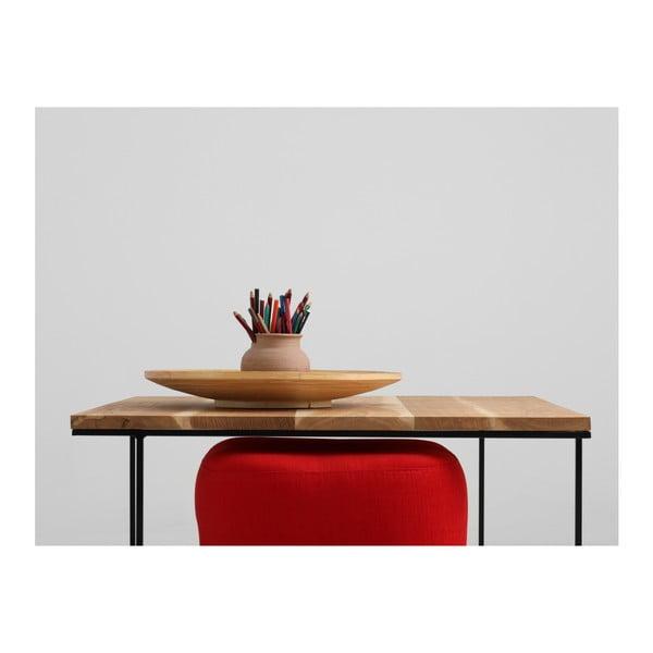 Măsuță de cafea cu blat din lemn de stejar Custom Form Walt, 80 cm