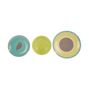 Sada 18 keramických talířů Ramponi Verde Turchese