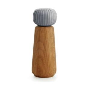 Râșniță din lemn pentru sare/piper Kähler Design Hammershoi, mare, gri