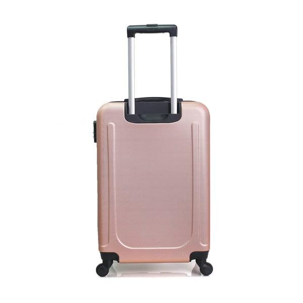 Sada 3 růžových cestovních kufrů na kolečkách Hero Atlanta