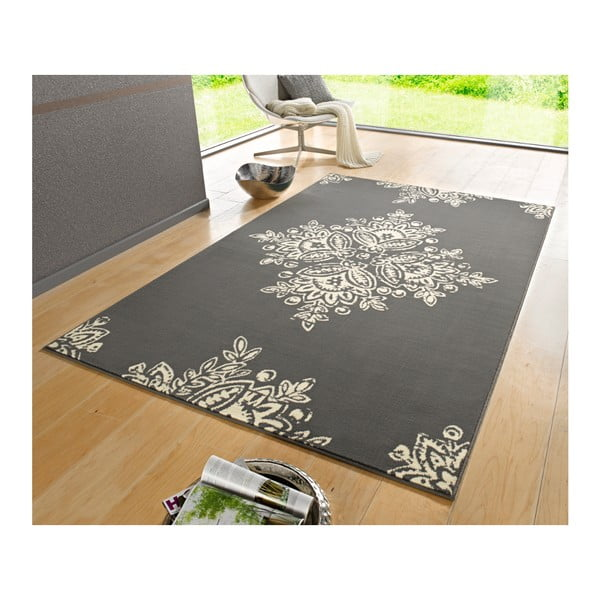 Šedobílý koberec Hanse Home Gloria Blossom, 200x290cm