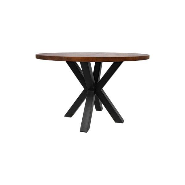Kulatý jídelní stůl sdeskou zmangového dřeva HMS collection, ⌀120cm