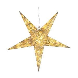 Svítící dekorace Golden Star, výška 55 cm