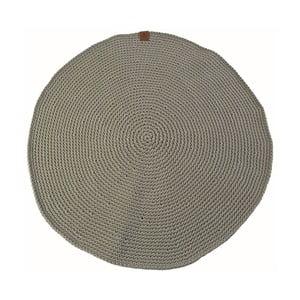 Háčkovaný kulatý koberec Catness, zelený, 100 cm
