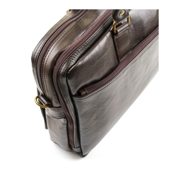 Pánská kožená taška Solier SL01 Brown
