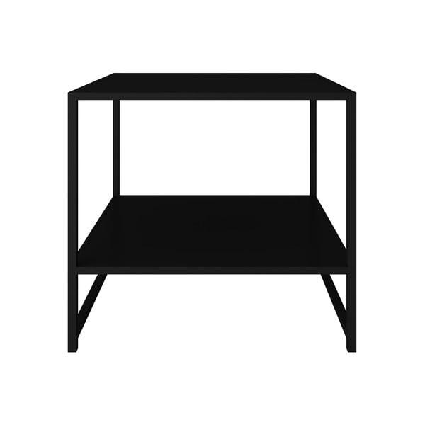 Czarny metalowy stolik Canett Lite, 50x50 cm