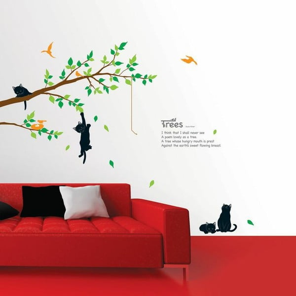 Set autocolante Ambiance Tree and Cat