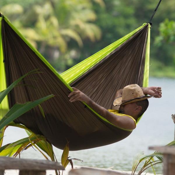 Cestovní závěsný vak až pro dva Colibri, černý/zelený