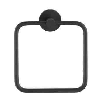 Suport de perete pentru prosoape din oțel inoxidabil Wenko Mezzano Ring, negru