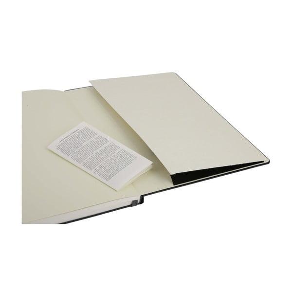 Zápisník Moleskine Folio Book, černý + linkované stránky