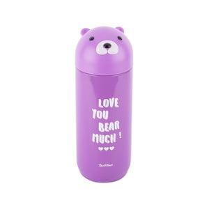 Fialová nerezová termoláhev Tantitoni Cute Bear, 280 ml