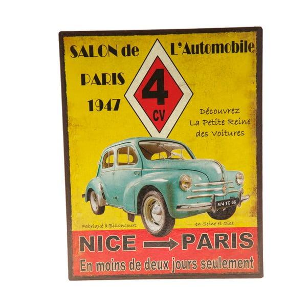 Plechová cedule Nice - Paris