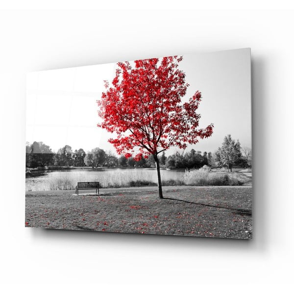 Tablou din sticlă Insigne Red Tree