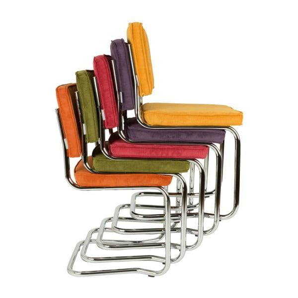 Sada 2 červených židlí Zuiver Ridge Kink Rib