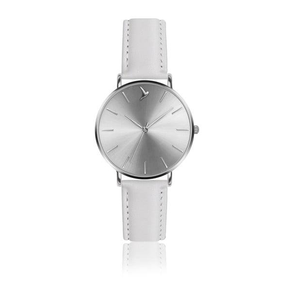 Dámske antikoro hodinky s bielym remienkom z pravej kože Emily Westwood Luxury