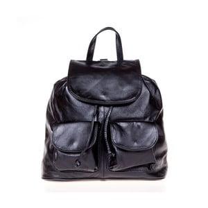 Černý kožený batoh Italia in Pogress Jane