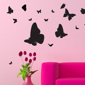 Set autocolante și 15 cristale Swarovski Ambience Butterflies