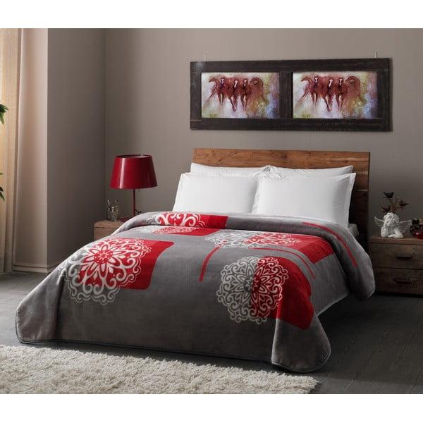 Deka Grey Red, 220x240 cm