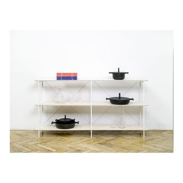 Knihovna One - bílá, 149x144 cm