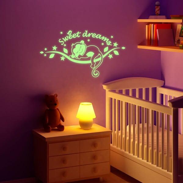 Samolepka svítící ve tmě MaDéco Monkeys Sweet Dreams