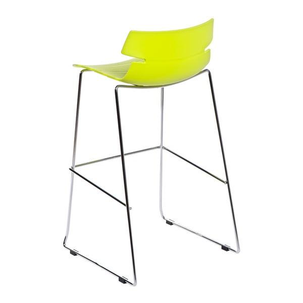 Zelená barová židle D2 Techno