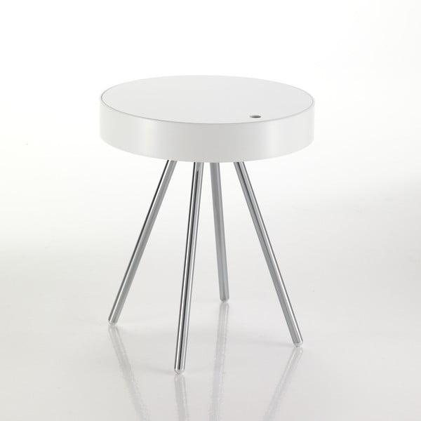 Biely odkladací stolík s odnímateľnou doskou Tomasucci Spok
