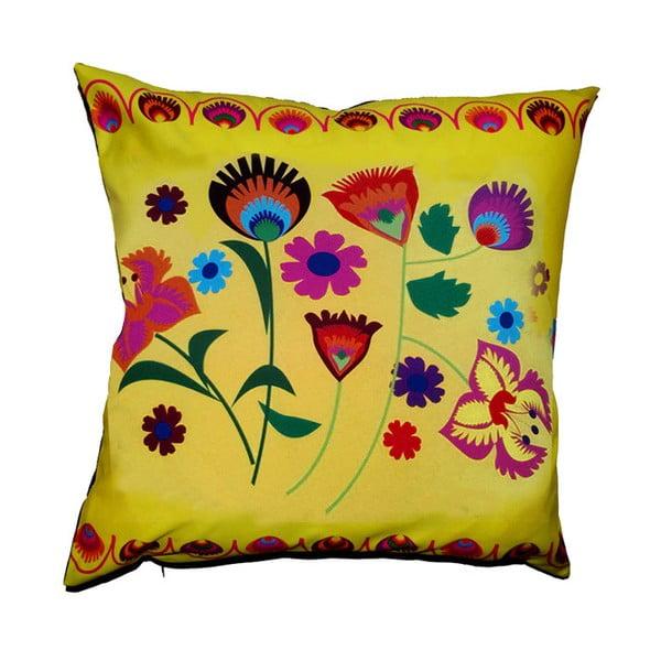 Polštář s náplní Folk Yellow, 50x50 cm