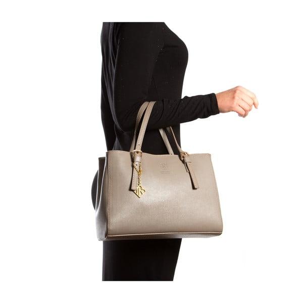 Kožená kabelka Isabella Rhea 441, béžová