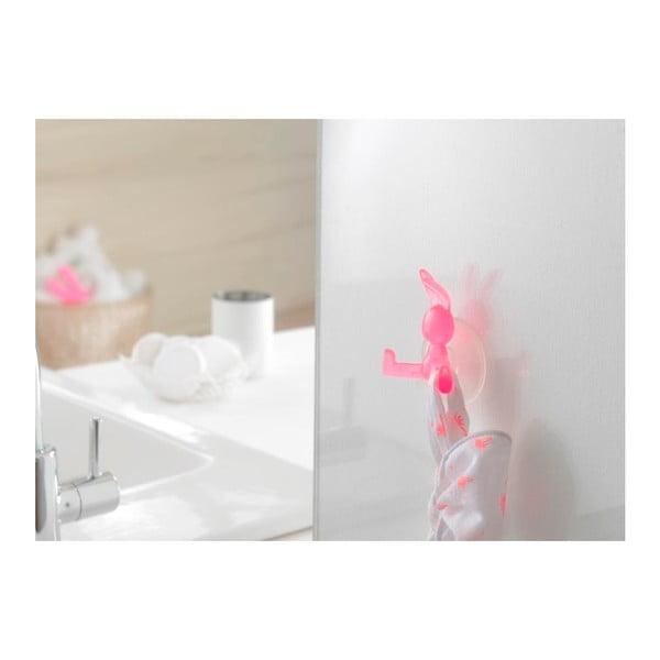 Rózsaszín öntapadós akasztó, nyuszi alakú - Compactor