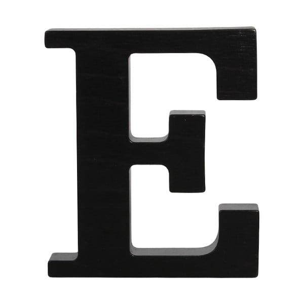Černé dřevěné písmeno Typoland E