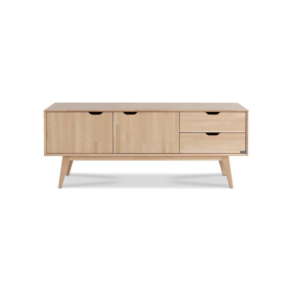 Ručně vyráběný TV stolek z masivního březového dřeva Kiteen Kolo