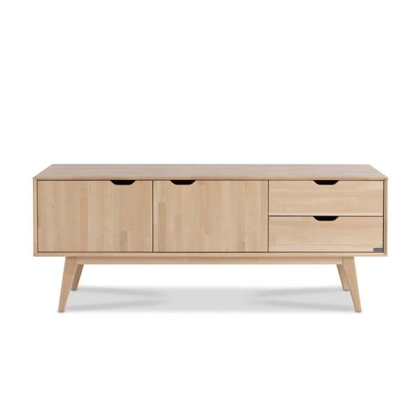 Ručne vyrobený TV stolík z masívneho brezového dreva Kiteen Kolo