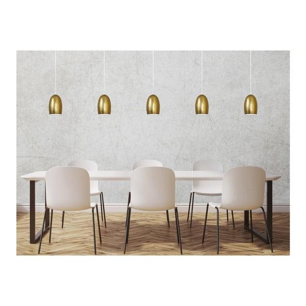 Zlaté závěsné svítidlo s bílým kabelem Sotto Luce Ume, ⌀13,5cm