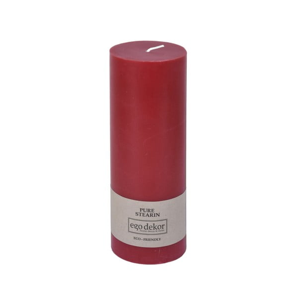 Czerwona świeczka Baltic Candles Eco, wys. 20 cm