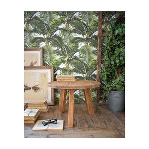 Odkládací stolek z teakového dřeva Orchidea Milano Country, ø50cm