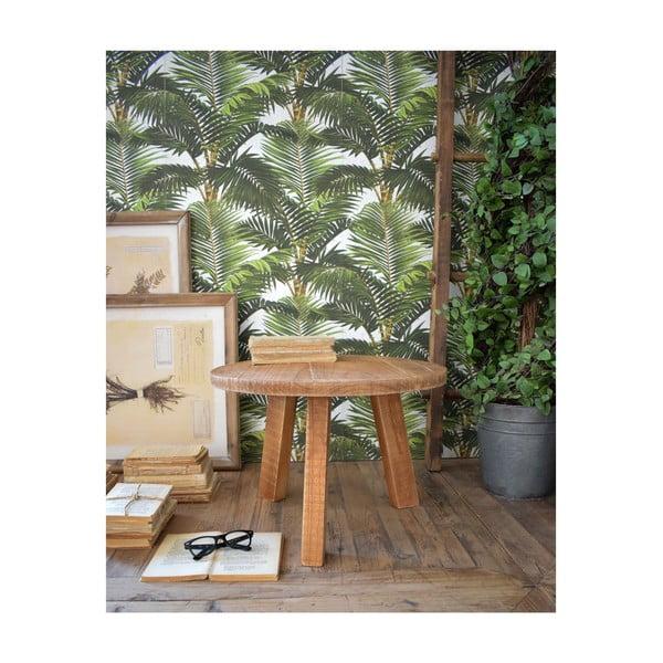 Stolik z drewna tekowego Orchidea Milano Country, ø 50 cm