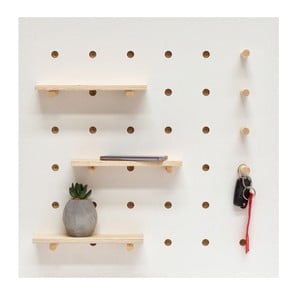 Organizator de perete Ragaba TRIVENTI, 60 x 60 cm, alb