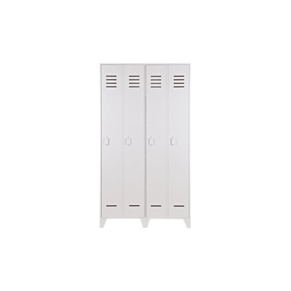 Stijn fehér két rekeszes szekrény, fenyő - WOOOD