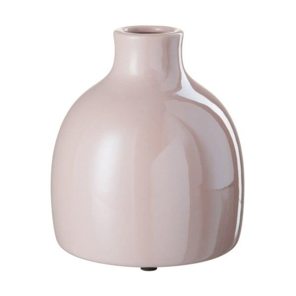 Růžová kameninová váza J-Line, 15x15x13 cm