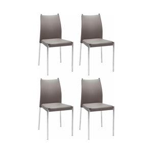Sada 4 hnědých židlí Støraa Zulu