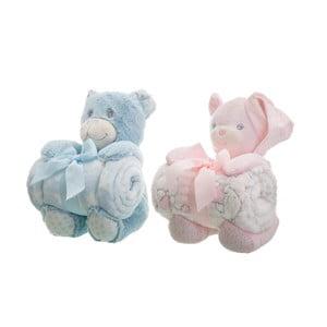 Sada 2 dětských dek s plyšáky Unimasa Bears,100x75cm