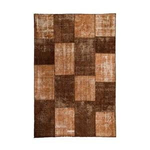 Vlněný koberec Allmode Patchwork Brown, 150x80 cm