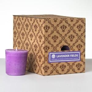 Sada 12 vonných svíček Lavender Fields, 15 hodin hoření