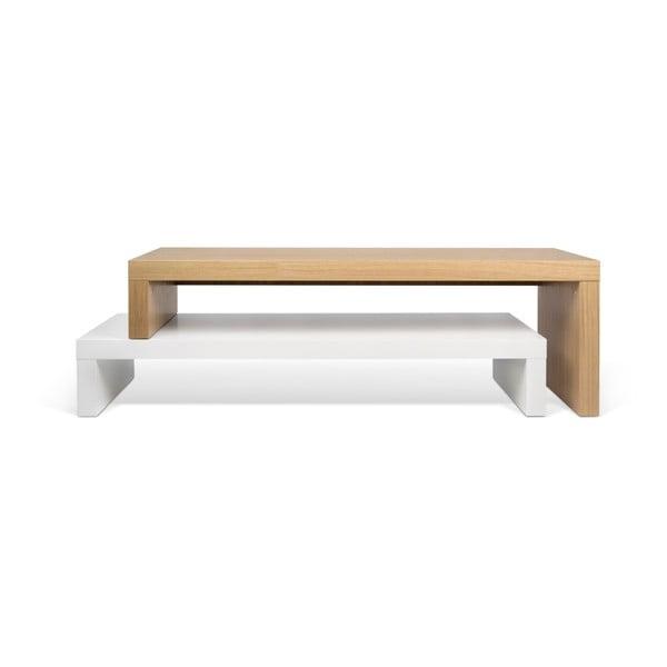 Bílý variabilní TV stolek TemaHome Cliff Oak